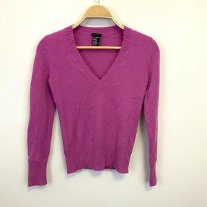 Theory Pinkish Purple Cashmere V-Neck Sweater P/TP